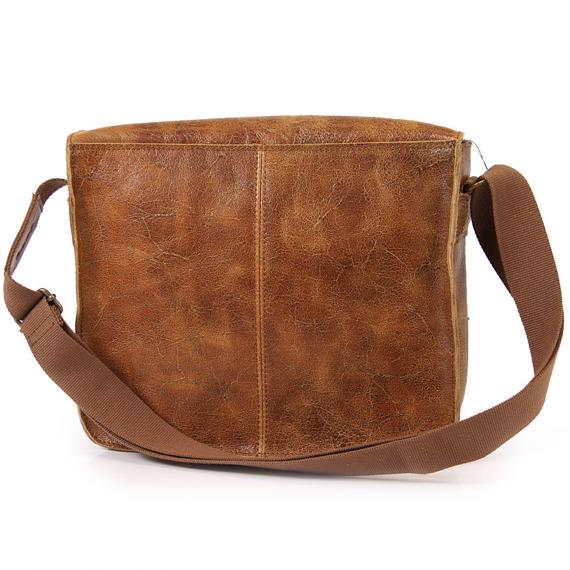 DAAG Jazzy Wanted 32 brązowa torba skórzana unisex listonoszka przez ramię