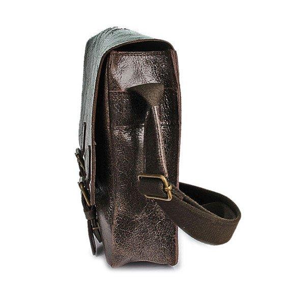 DAAG Jazzy Wanted 32 ciemnobrązowa torba skórzana unisex listonoszka przez ramię