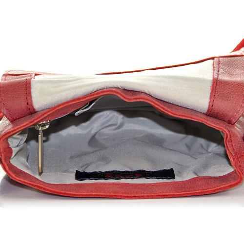 DAAG On Line 4 czerwona skórzana listonoszka damska