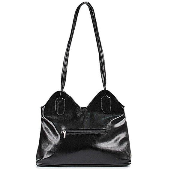 DAN-A T10 czarna torebka skórzana damska