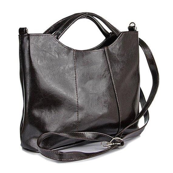 DAN-A T105 czekoladowa torebka skórzana damska aktówka