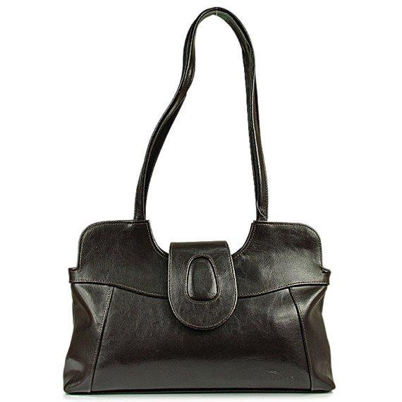 DAN-A T2 czekoladowa torebka skórzana damska