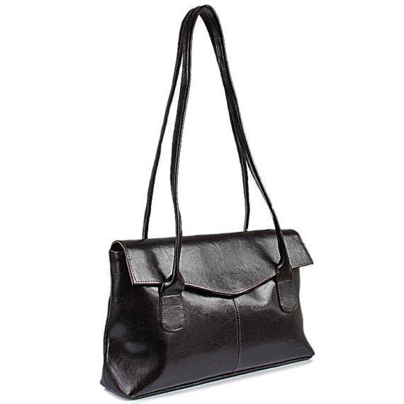 DAN-A T39 czekoladowa torebka skórzana damska