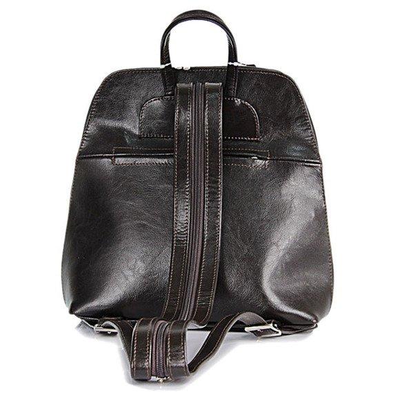 DAN-A T65 czekoladowy plecak skórzany damski