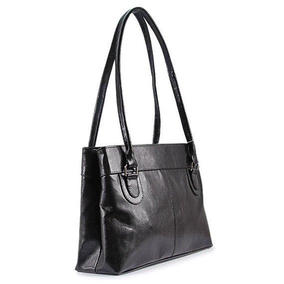 DAN-A T76 czarna torebka skórzana damska