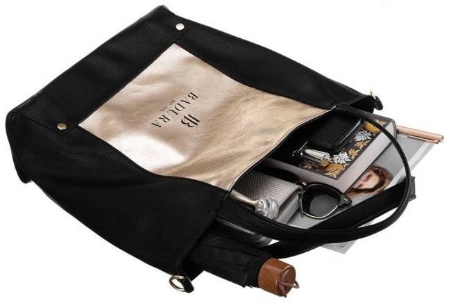 Duża torebka czarno-złota Badura TD_204CZ/ZL_CD