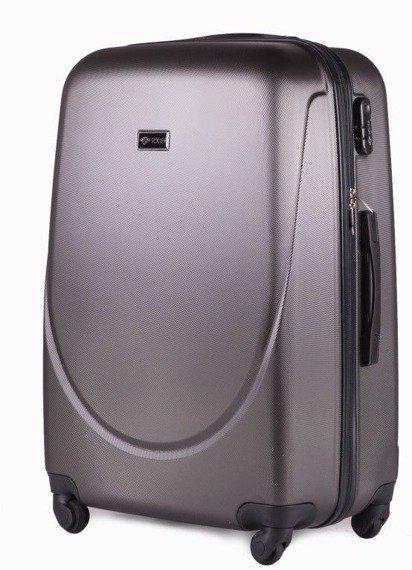 Duża walizka podróżna na kółkach SOLIER STL310 L ABS ciemnoszara