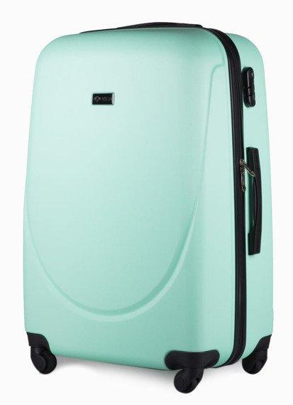 Duża walizka podróżna na kółkach SOLIER STL310 L ABS jasnozielona
