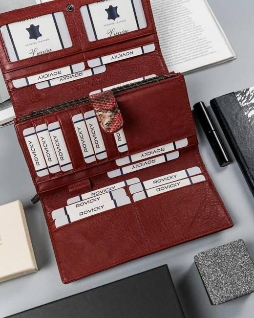 Duży portfel damski czerwony Lorenti 1077-DR-6956 RED