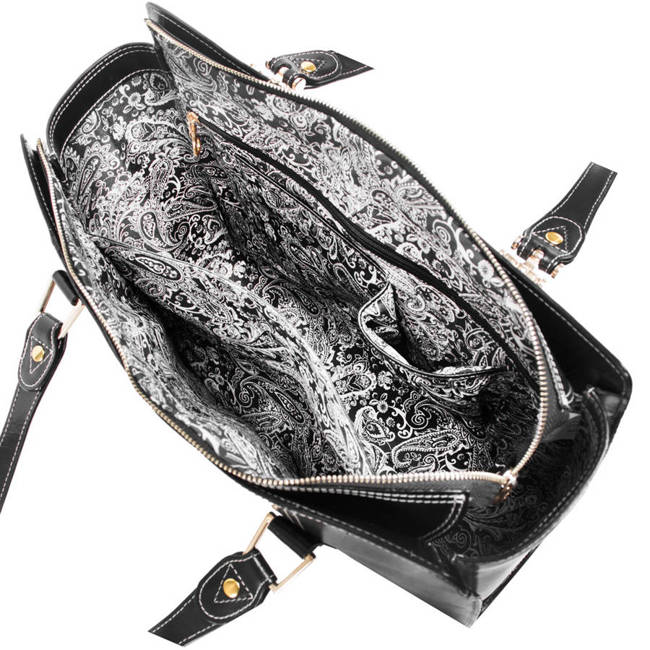 Ekskluzywna skórzana torebka damska czarna Mcklein Glenna 97545