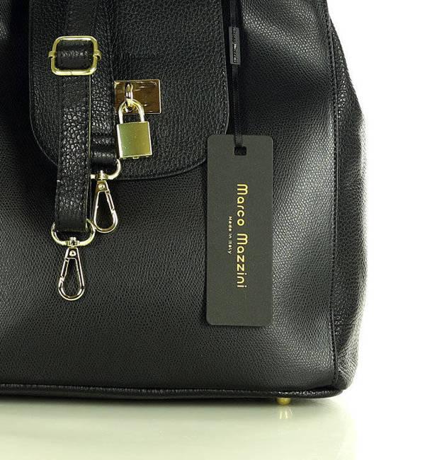 Elegancka shopperka czarna MARCO MAZZINI s269a