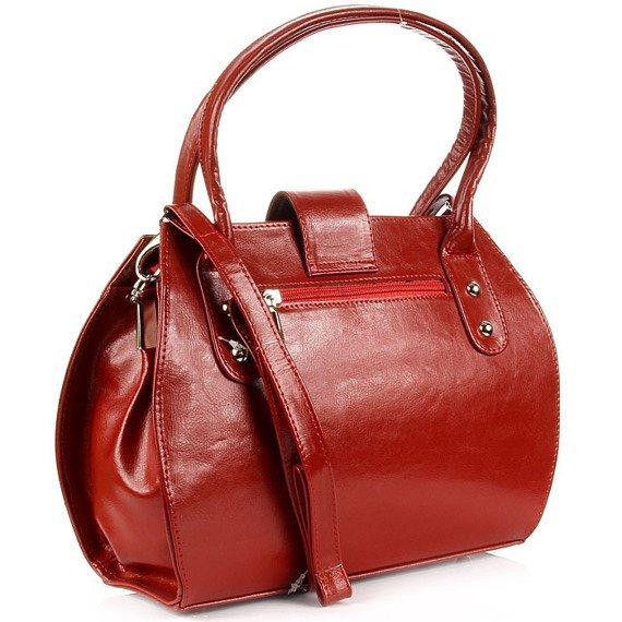 Elegancki kuferek ze skóry naturalnej DAN-A T256 czerwony