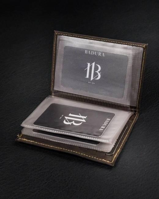 Etui na karty brązowe Badura TW-12-MH-BA BROWN