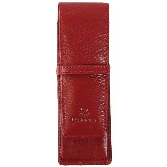 KRENIG Classic 12032 czerwone skórzane etui na długopisy