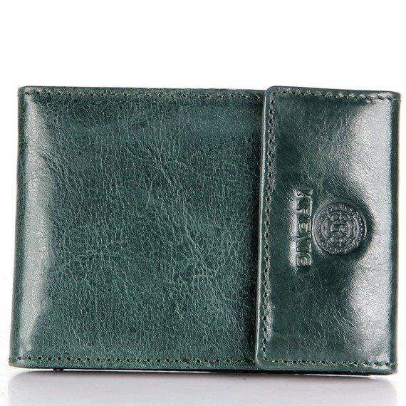 KRENIG Classic 12034 zielone skórzane etui na karty