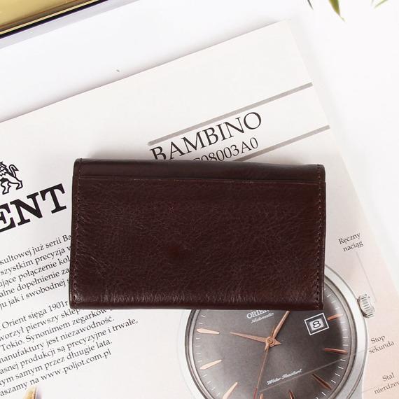 KRENIG Classic 12035 brązowy skórzany wizytownik