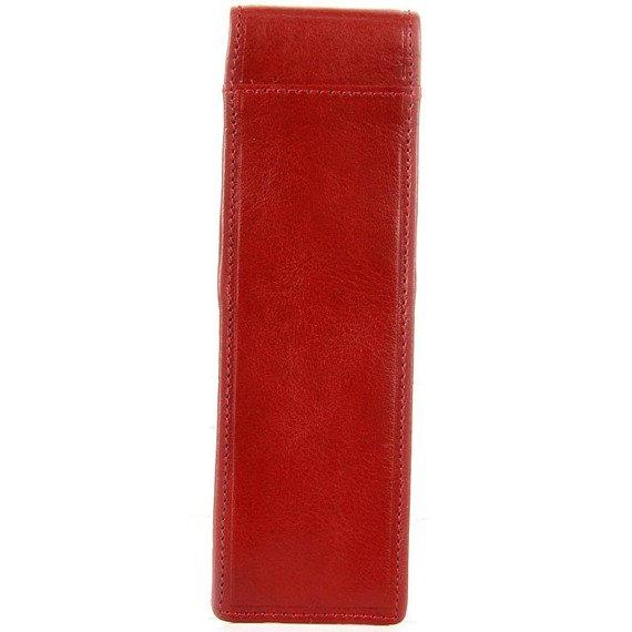KRENIG Scarlet 13032 czerwone skórzane etui na długopisy