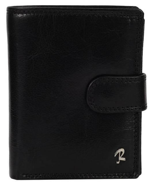 Klasyczny portfel męski czarny Rovicky 326L-CVT BLACK