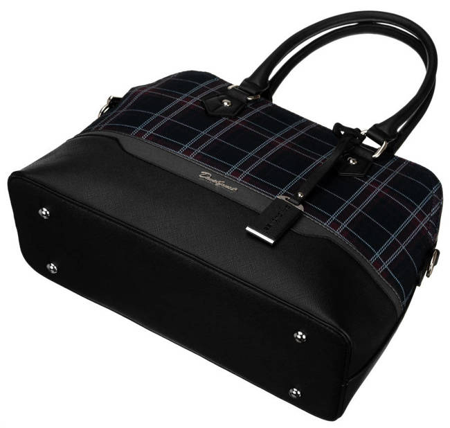 Kuferek czarny krata David Jones  6622-3 BLACK