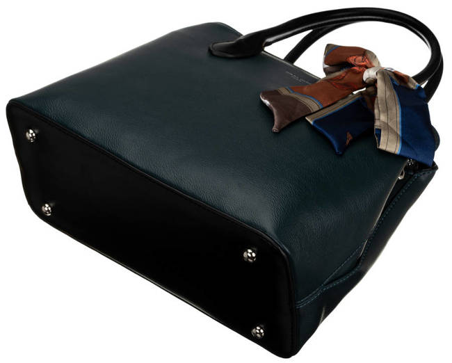 Kuferek turkusowy z ozdobną apaszką David Jones CM6214 PEACOCK BLUE
