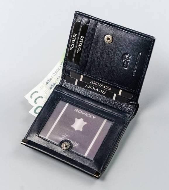 Kwadratowy portfel damski granatowy Cavaldi RD-16-GCL-6252 NAVY