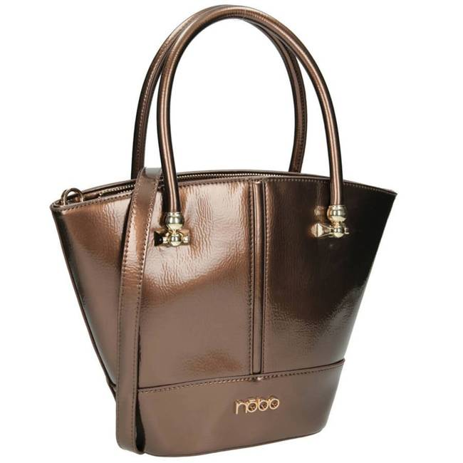 Lakierowany kuferek brązowy Nobo NBAG-J2790-C017