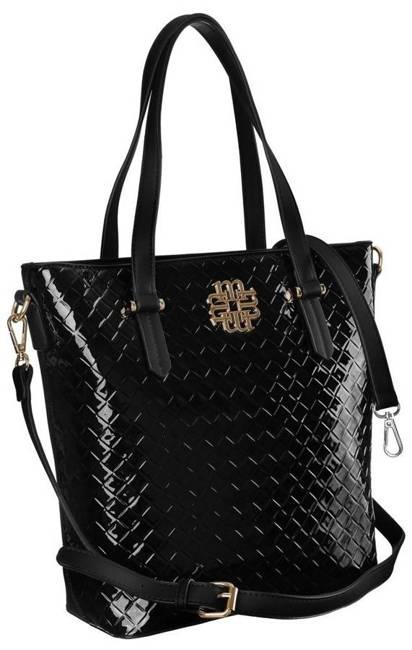 Lakierowany shopper czarny Monnari BAG2540-020