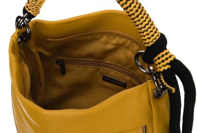 Listonoszka damska żółta David Jones CM5736 YELLOW