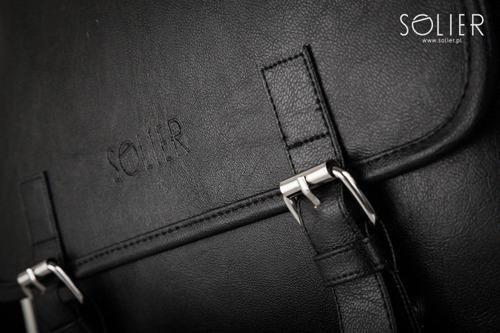 Listonoszka męska na ramię Solier S12 czarna