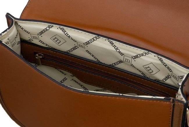 Listonoszka torebka podkowa Monnari brąz 5370