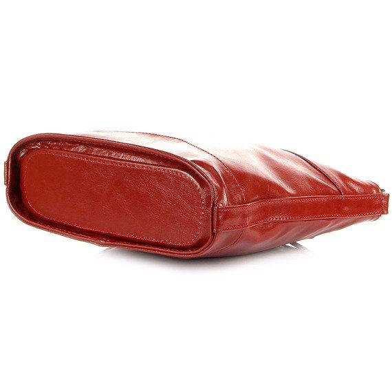 Listonoszka ze skóry naturalnej DAN-A T249 czerwona