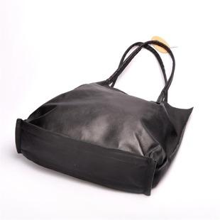 MADE IN ITALY Spalla 223 czarna włoska torebka skórzana