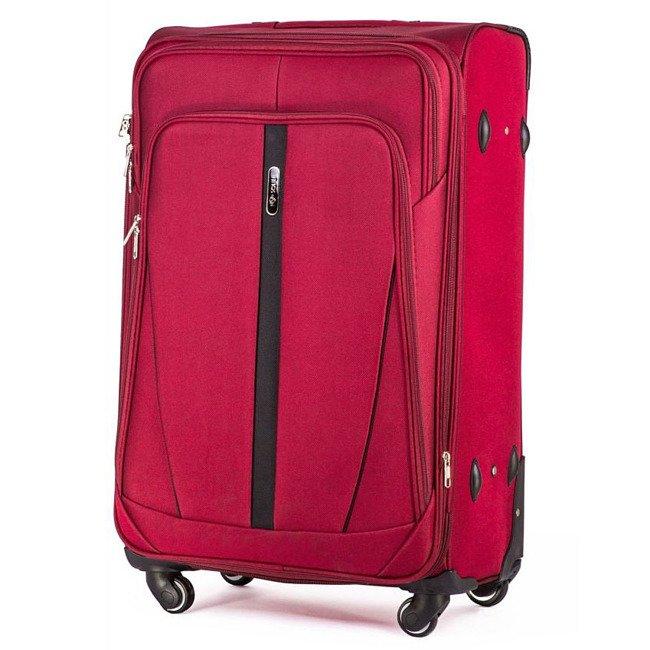 Mała podręczna walizka miękka S Solier STL1706 czerwona