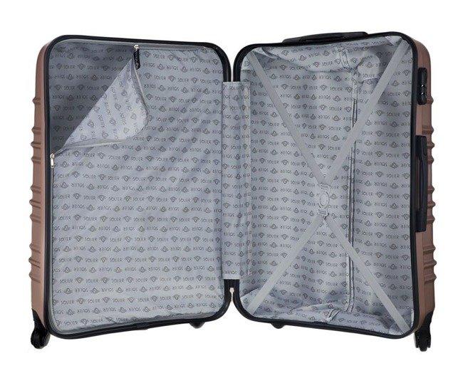 Mała walizka kabinowa ABS 55x37x24cm STL838 rose gold