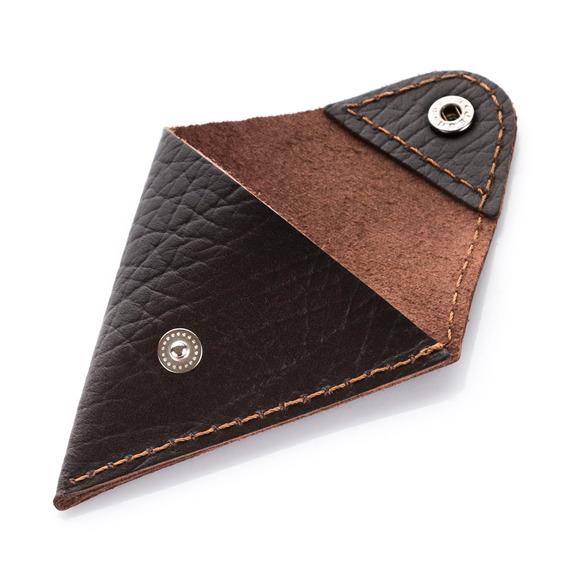 Mały portfel na monety bilonówka brodrene CWC1 Cortez ciemny brąz