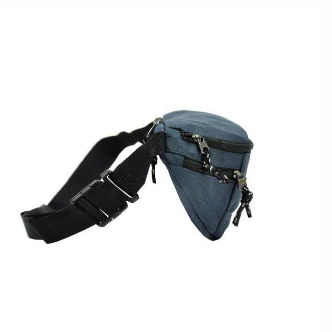 Materiałowa saszetka nerka szara Rovicky BAG-WB-01-3989 GRAY