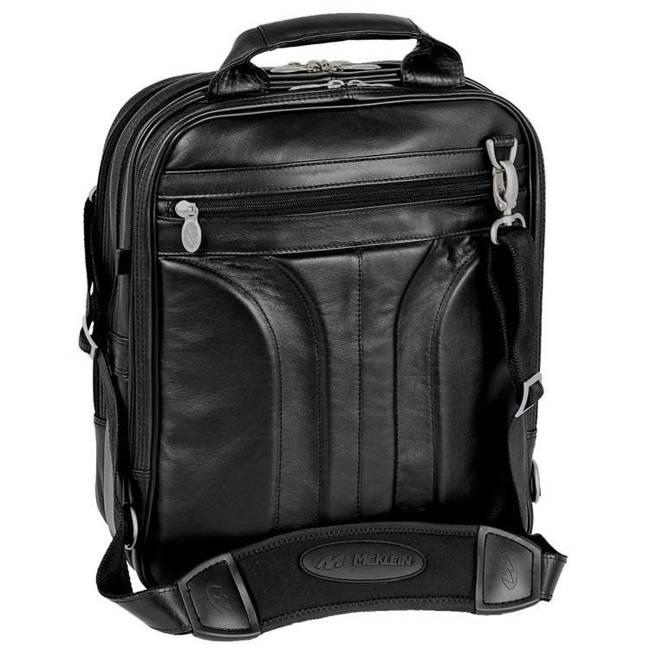 "Mcklein Lincoln Park skórzany plecak z odpinanymi ramionami, torba na laptopa 15,4"""