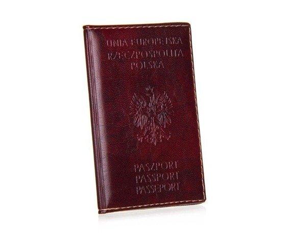 Okładka etui na paszport MLW1 bordowa
