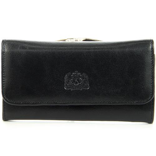 P8 skórzany portfel damski czarny