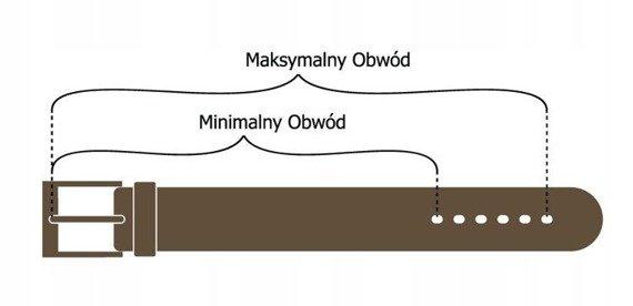 Pasek męski brązowy ROVICKY PRS-02-BGE 104-119 110CM