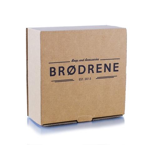 Pasek męski do spodni parciany Brodrene P10G granatowo-brązowy