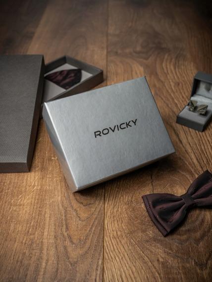 Pasek męski skórzany Rovicky PSN-01-SO 105cm czarny