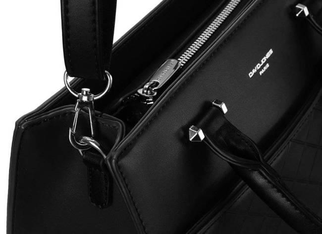 Pikowany czarny kuferek David Jones 6516-3 BLACK
