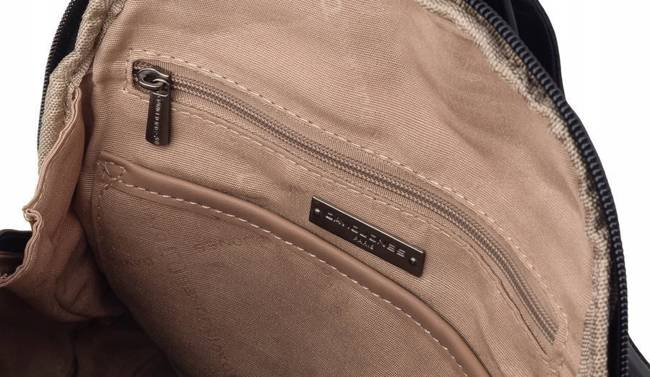 Pikowany plecaczek damski czarny David Jones 5834-3 BLACK