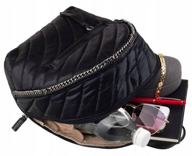 Pikowany plecaczek granatowy David Jones 5834-3 D.BLUE