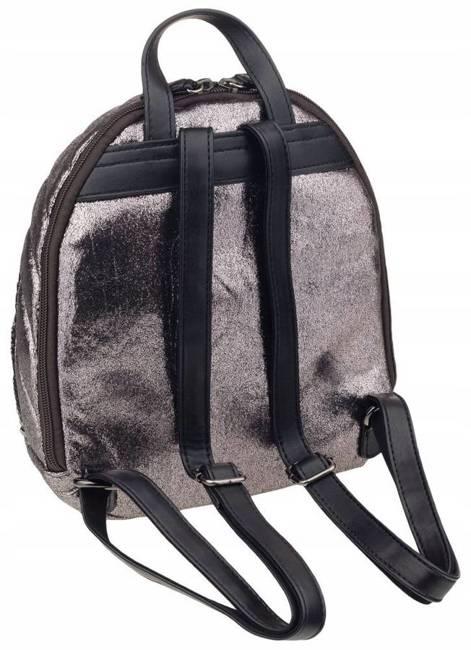 Pikowany plecaczek srebrny David Jones 5834-3 D.SILVER