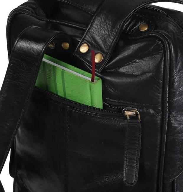 Płaski plecak męski czarny  Always Wild 4058-S-PDM BLACK