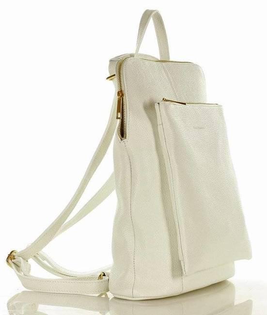 Plecak damski biały torebka MARCO MAZZINI Pl49k