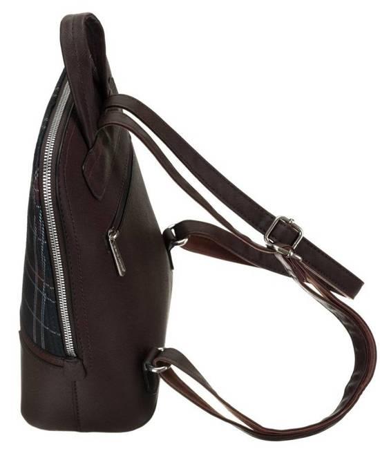 Plecak damski bordowy krata David Jones 6622-2 BORDEAUX