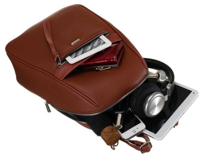 Plecak damski brązowy David Jones CM6025 CIENNA